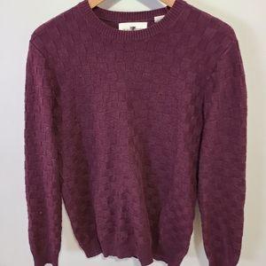 Black Brown 1828 Grandpa Sweater in Maroon